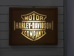harley davidson lighted signs harley davidson garage dealer lighted sign in wood catawiki