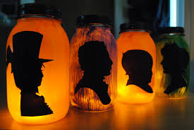 Halloween Jars Crafts by Halloween Silhouette Lanterns Page Turners Hollow
