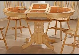 Amazoncom Round Tile Top Natural Dining Room Table Butterfly - Tile top kitchen table and chairs