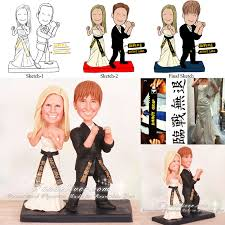 karate cake topper guarding stance martial arts wedding cake toppers