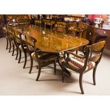 10 Chair Dining Table Set Regency Style Dining Table And Chairs Table Designs