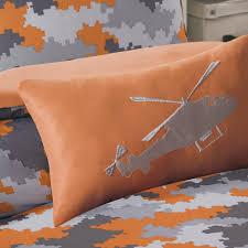 Camouflage Comforter Amazon Com Mizone Lance 3 Piece Comforter Set Orange Twin Twin