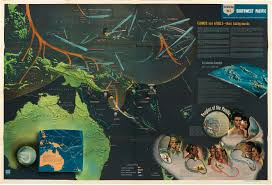 Map Of South Pacific Eye Popping Pictorial Map Of The South Pacific Campaigns Of Wwii