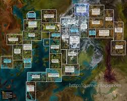 Fallout 2 World Map by Guild Wars 2 World Map Zones Cities Dungeons Levels