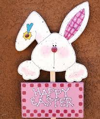 bunny decorations happy easter bunny yard stick wood easter decoration yard