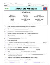 bill nye atoms and molecules worksheet answer sheet and two