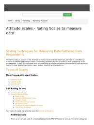 attitude scales rating scales to measure data pdf level of