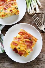 egg strata casserole bacon potato and egg casserole two peas their pod
