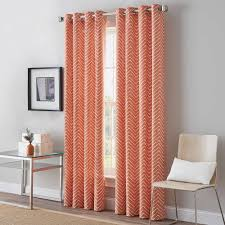 Orange Panel Curtains Decor Wonderful Bed Bath And Beyond Drapes For Window Decor Idea