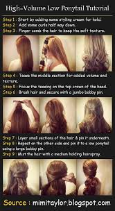 layer hair with ponytail at crown high volume low ponytail working in food service means having to