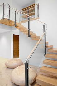 Wood Interior Handrails 40 Stair Railings Of Glass U2013 Airy Feel In The Interior Design Of