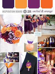 inspiration board 28 orchid u0026 orange wedding ideas