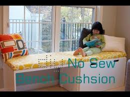 How To Build A Toy Box Bench by Diy No Sew Bench Cushion Seat Window Seat Cushion Without Sewing