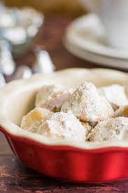 small batch snowball cookies with kisses baking mischief