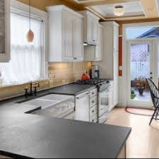 Black Kitchen Countertops by Honed Absolute Black Granite Countertops Knockoff For Soapstone