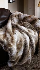Faux Fur King Size Blanket Chinchilla Fur Throw Carstens Inc