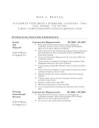 sle of resume don reeves resume