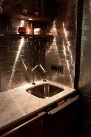Contemporary Kitchen Backsplash by Stainless Steel Tile Backsplash Modern Metal Tiles 3d Diamond