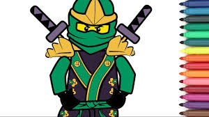 lego ninjago coloring page for kids youtube