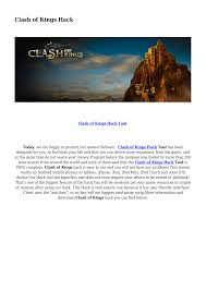 clash of kings hack documents