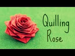 quilling earrings tutorial pdf free download how to make a rose with a paper stripe quilling rose youtube