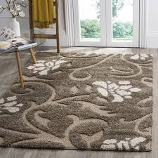 Shag Carpet Area Rugs Safavieh Florida Shag Smoke Beige Shag Area Rug 5 U00273 X 7 U00276