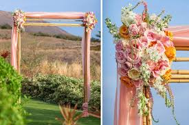 wedding arches bamboo wedding bamboo arch archives hawaiian style event rentals