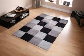 black and grey rugs honeycomb carved soft rug keno light gray