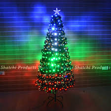 led fibre optic christmas tree various design lightings pre lit