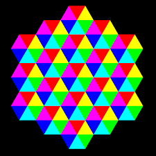 clipart triangle tessellation 6 color