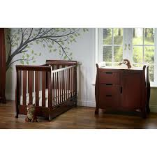 Walnut Nursery Furniture Sets by Obaby Stamford Sleigh 3 Piece Room Set Country Pine Kiddicare Com