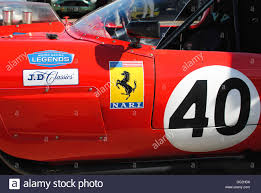 Red Ferrari Classic Car At Silverstone Stock Photo Royalty Free