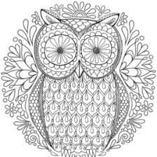 owl mandala coloring pages kids drawing coloring pages