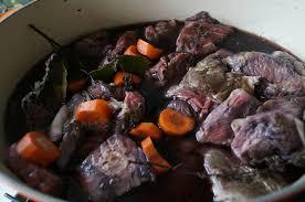 boeuf cuisiné boeuf bourguignon dans la cuisine de françoise