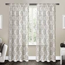 amazon com exclusive home curtains nagano sheer rod pocket window