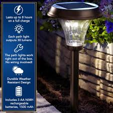 Brightest Led Solar Path Lights by Moonrays 91754 Richmond Solar Led Metal Path Light Rubbed Bronze