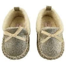 Moccasins Baby Girls U0027 Rising Star Glitter Moccasins Gold Target