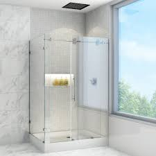 Shower Doors Reviews Sliding Doors Vigo 60 Inch Clear Glass Frameless Shower Door