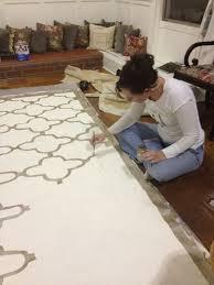 Painted Rug Stencils Best 25 Painted Floor Cloths Ideas On Pinterest Floor Cloth