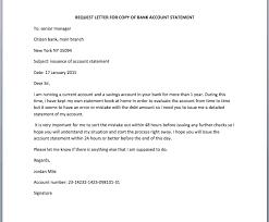 bank account statement request letter u2013 smart letters