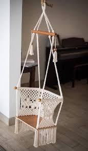 double macrame hammock baby swing chair handmade in nicaragua