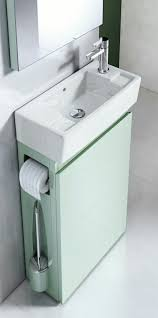 All In One Bathroom Vanities by Sophisticated Small Wall Mounted Bath Vanity With Sink And Tissue