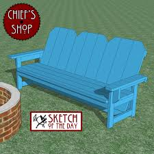 Firepit Bench by Chief U0027s Shop Woodworking Education U0026 Craftsmanship