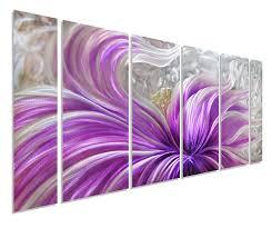 purple blossoms flower metal wall art contemporary decor