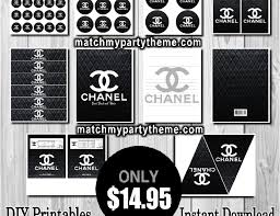 themed party supplies coco chanel birthday chanel party favors chanel party supplies