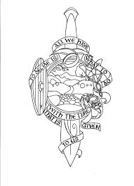 the lord of the rings sleeve heartpiece by