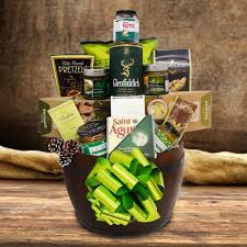 liquor gift baskets st s day gift basket 50 shades of green yorkville