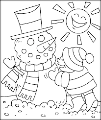 cool winter coloring pages for kindergarten color zini