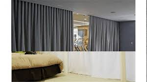 curtain room dividers home decorating tips divider track plan of