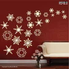 christmas wall decor wall decals snowflakes falling holidays christmas wall decor by